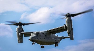 Marine Corps States MV-22B Osprey Crash into the Water Last December Result of Pilot Error
