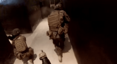 Watch: Marines train in a live fire shoot house