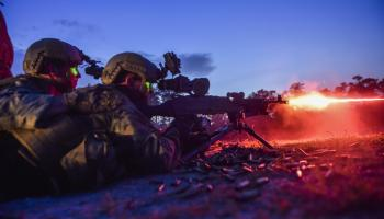 SOF Pic of the Day: Special Tactics Airmen join MARSOC night fire training