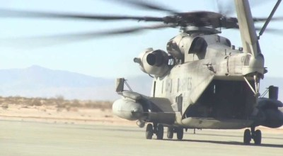 Watch: Airlift Some Concrete with a CH-53E Super Stallion