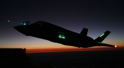 Picture of the Day: USMC F-35B Lightning II Nighttime Aerial Refueling