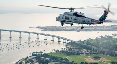 Picture of the Day: US Navy Seahawk Helicopter on Display over San Diego