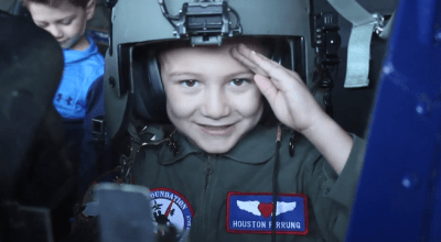 Must watch! Houston Pirrung and Jack Kirkbride childhood cancer survivors become 'Pilots for a Day'