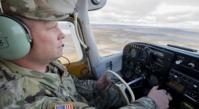 Watch: Alaska National Guard recruiter uses his own aircraft to find new recruits