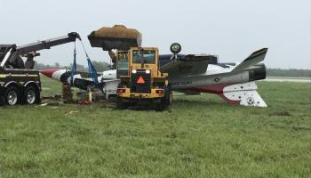 Thunderbirds crash at Dayton International Airport last June result of high speed and wet runway
