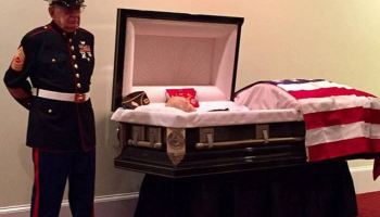 US Marine pays last respects to his brother in arms
