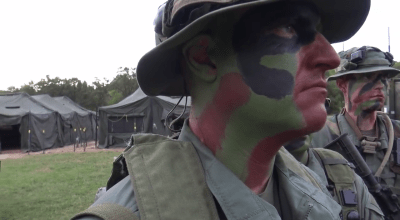 Watch: Techniques for applying camouflage face paint