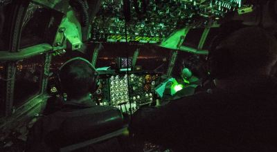 Picture of the Day: C-130H Hercules During an Aeromedical Evacuation Training Mission