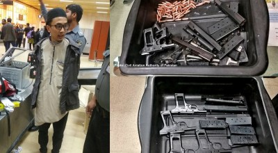Potential IS hijacker apprehended in Pakistani airport, armed with handguns, ammo