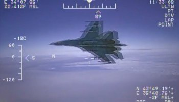 US Navy Releases Video Footage of Russian Jet Buzzing EP-3 Aircraft