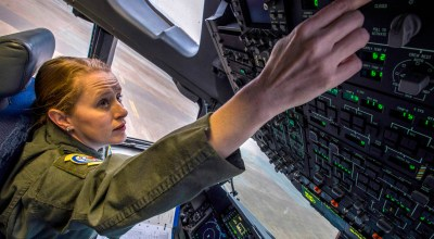 Picture of the Day: Air Force Capt. Maggie R. Linn Preflights a C-17 Globemaster