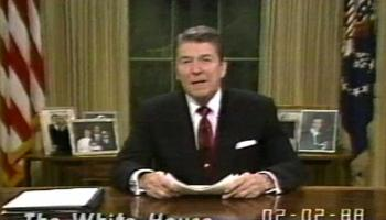 February 2, 1988, Networks Refuse to Air President Reagan's Speech