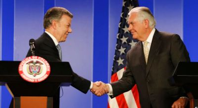 """Tillerson Praises Colombia's Anti-Drug Efforts, """"Results are What Matter"""""""