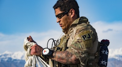 SOF Pic of the Day: Air Force PJ packs his chute in Afghanistan
