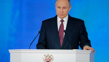 In national address, Putin talks Russia's growing nuclear weapons programs