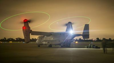 Picture of the Day: Marines Loading Equipment onto an MV-22B Osprey