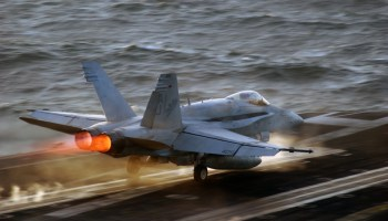 F/A-18 Hornets conclude their final voyage aboard a carrier as the Navy looks toward the future of fighters