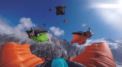 Watch: Wingsuit Madness!