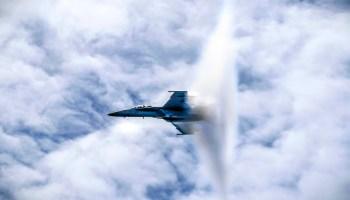 Navy F/A-18F Super Hornet Breaking Sound Barrier