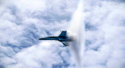 Picture of the Day: Navy F/A-18F Super Hornet Breaking the Sound Barrier!