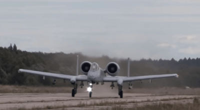 Watch: U.S. Air Force A-10 Thunderbolt II Jets Landing on Abandoned Runway in Estonia