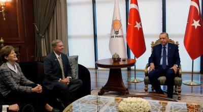 U.S. Senators Lindsey Graham and Jeanne Shaheen met with Turkish President Erdogan to discuss Manbij