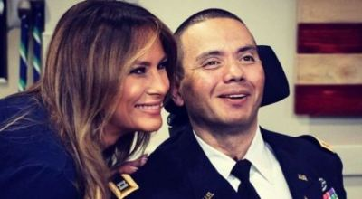 First Lady Makes Unannounced Trip to Walter Reed to Visit Injured Troops