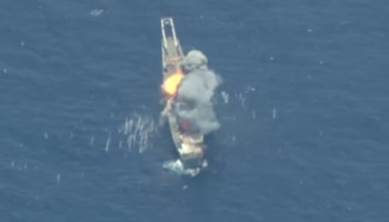 Watch: US and allies sink the USS Racine with missiles and torpedoes