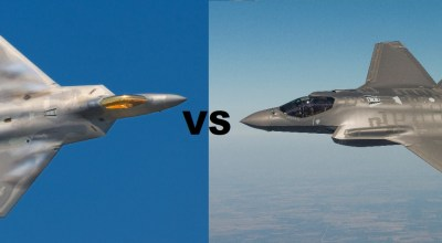 F-22 Raptor (left) and F-35 Joint Strike Fighter (Right) Modified feature images courtesy of Wikimedia Commons