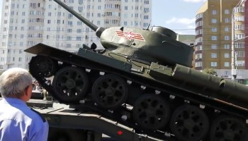 Russian tank ends military parade with a barrel roll (that wasn't on purpose)