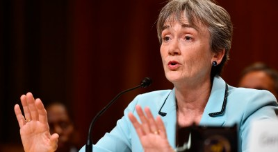 Secretary of the Air Force Heather Wilson testifies before the Senate Appropriations Committee for Defense June 21, 2017, in Washington, D.C.