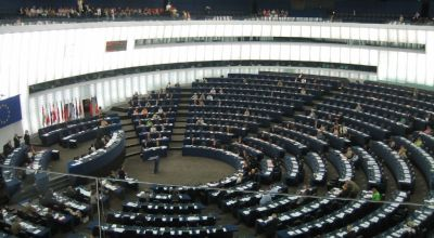 The European Parliament in session. Wikimedia Commons.