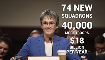 Air Force Secretary calls for a massive squadron buildup to protect America