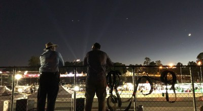 Author and his brother watching night laps at Road Atlanta.