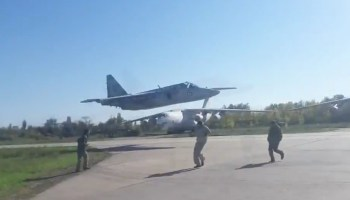 Another crazy low pass video surfaces out of Ukraine only days after an American dies aboard one of their fighters