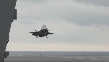 Watch: The UK Navy invented a new way to land F-35s with heavy payloads on their carriers