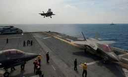 F-35s deployed aboard Navy and Marine Corps ships would be particularly susceptible to logistical attacks. (DoD Photo)