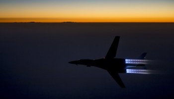 Watch: B-1 Lancer Bomber night takeoff in full afterburner