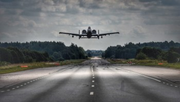 Watch: A-10 Warthogs come in for a landing on highways in Europe