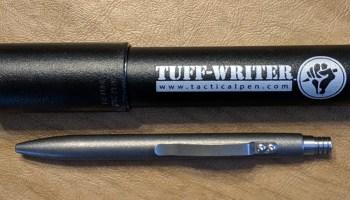 Tuff Writer Mini Click Titanium Blasted Finish