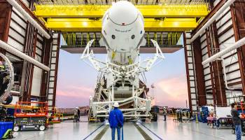 Pic of the Day: Falcon 9 rocket with SpaceX's Crew Dragon capsule rolled out for testing