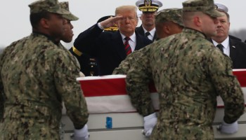 The Pic of the Day: President Trump salutes the remains of former Navy SEAL Scott A. Wirtz