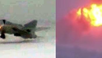 Watch: Shocking footage of Russian Tu-22M3 bomber crashing last week suggests instrument failure