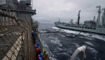 Two US Navy ships collide during underway replenishment operation