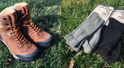 No going back: Bogs Bedrock waterproof leather work boots and Farm-to-Feet Coronado tactical socks