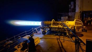 Testing a Super Hornet engine aboard the USS Dwight D. Eisenhower
