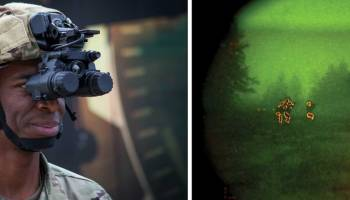 US Army's new night vision goggles can link to rifle sights to fire around corners