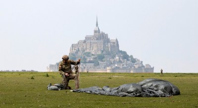 10th Special Forces Group Troops Parachute into Normandy