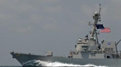 USS Bainbridge (DDG-96), an Arleigh Burke-class guided missile destroyer. (US Navy photo)