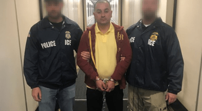 ICE agents apprehend Michael Cerdas Molina, convicted of sexual assault against a minor in Costa Rica. Photo courtesy of ICE.gov